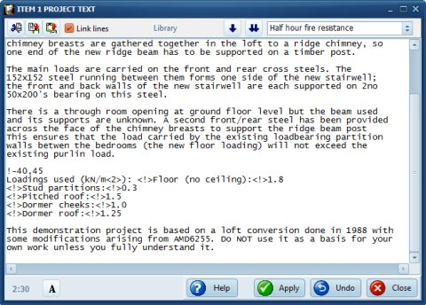 SuperBeam text page editor